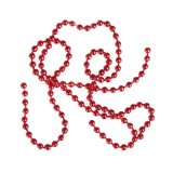 BG Bead Chain Eyes Hot Metallic Red