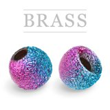 Brass Beads Sunny Rainbow
