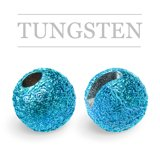 Slotted Tungsten Beads Sunny Blue