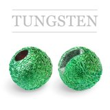Slotted Tungsten Beads Sunny Green