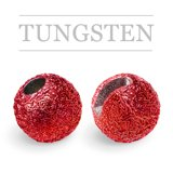 Slotted Tungsten Beads Sunny Metallic Red