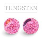 Slotted Tungsten Beads Sunny Pink