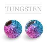 Slotted Tungsten Beads Sunny Rainbow
