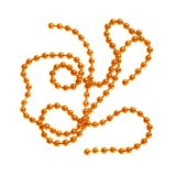 BG Bead Chain Eyes Metalic Orange
