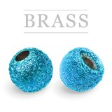 Brass Beads Sunny Metallic Blue