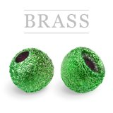 Brass Beads Sunny Metallic Green