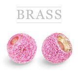Brass Beads Sunny Metallic Pink