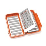 C&F Design Large 16-Row Waterproof Fly Case with Flip Page Burnt Orange