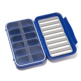 C&F Design Large 8-Row Waterproof Fly Case with 12 Compartments Blue