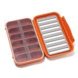 C&F Design Large 8-Row Waterproof Fly Case with 12 Compartments Burnt Orange