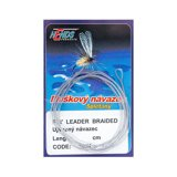 Hends Fly Leader Braided Tapered Grey