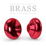 Ring Brass Hot Metallic Red