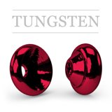 Ring Tungsten Metallic Blood Red