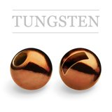 Slotted Tungsten Beads Metallic Coffe