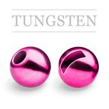 Slotted Tungsten Beads Metallic Light Pink