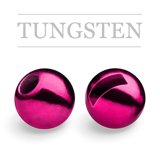 Slotted Tungsten Beads Metallic Pink