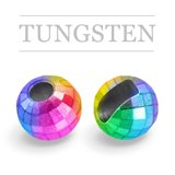 Slotted Tungsten Beads Reflex Metallic Rainbow
