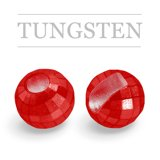 Slotted Tungsten Beads Reflex Metallic Red