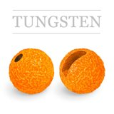 Slotted Tungsten Beads Sunny Fluo Orange