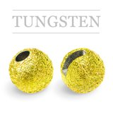 Slotted Tungsten Beads Sunny Metallic Fluo Yellow