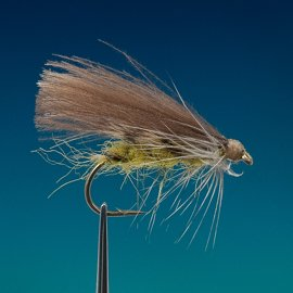 (0061) CDC Olive Caddis