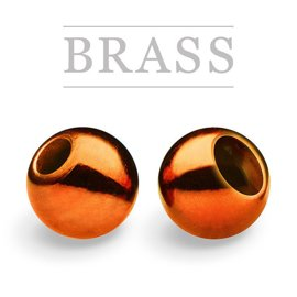 Brass Beads Metallic Orange