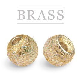 Brass Beads Sunny Gold