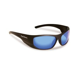 Flying Fisherman Okulary Cape Horn Matte Black - Smoke/Blue Mirror