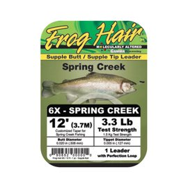 Frog Hair Mono Spring Creek Leader 3,70m