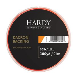Hardy Dacron Backing Orange 100yds 30lbs