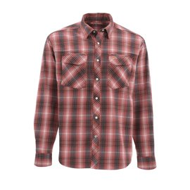 Simms Gallatin Flannel Shirt Garnet Plaid