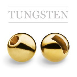 Slotted Tungsten Beads Gold New