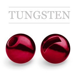 Slotted Tungsten Beads Metallic Blood Red