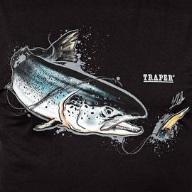 Traper t-shirt Art Salmon Black